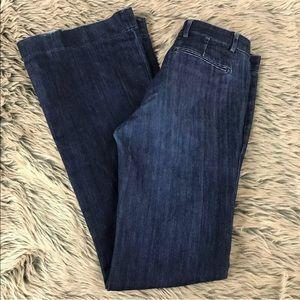 Current Elliott Mid Rise Neat Trouser Birdie Jeans